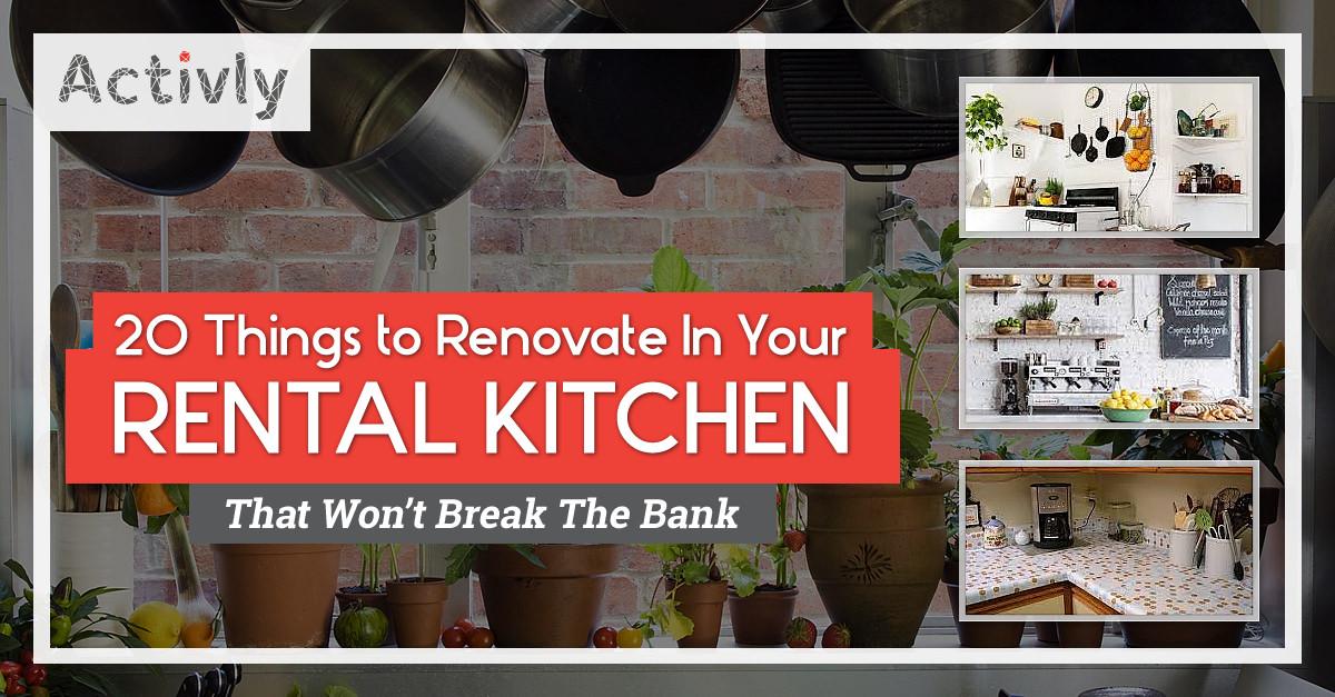 renovate rental kitchen